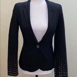 Zara single breasted sequined sleeve blazer jacket